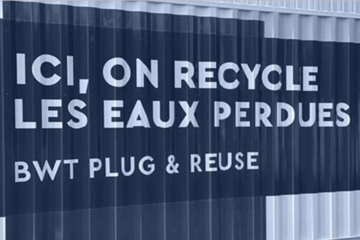 Conteneur mobile de recyclage des eaux usées, disponible en essai pilote pour les industriels