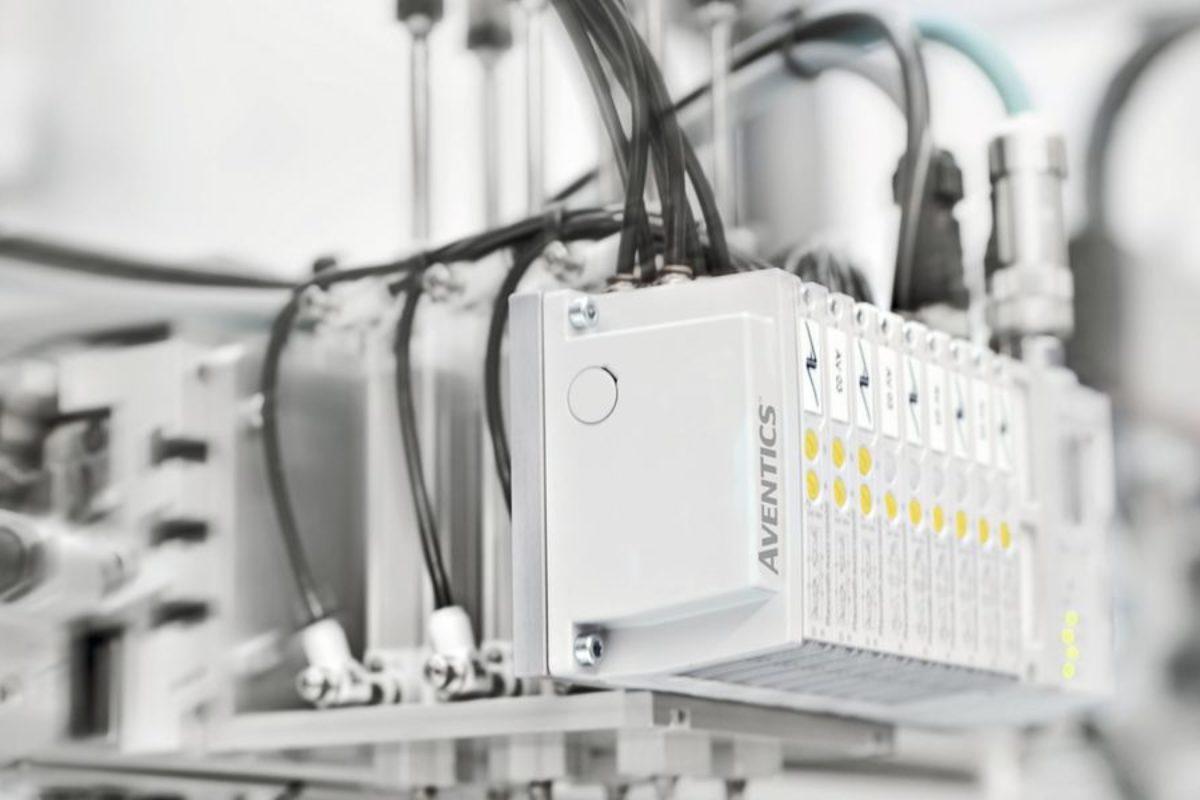 Îlot de distribution pneumatique avec connectivité sans fil intégrée